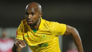 Ramahlwe Mphahlele of Mamelodi Sundowns during theAbsa Premiership 2013/14 match between Free State Stars and Mamelodi Sundowns at Charles Mopeli Stadium in Qwa Qwa on the 18 March 2014 ©Muzi Ntombela/BackpagePix